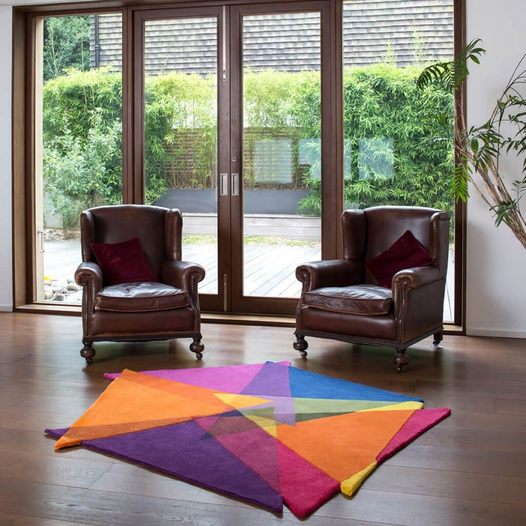 Colourful Abstract Rugs - Vortex