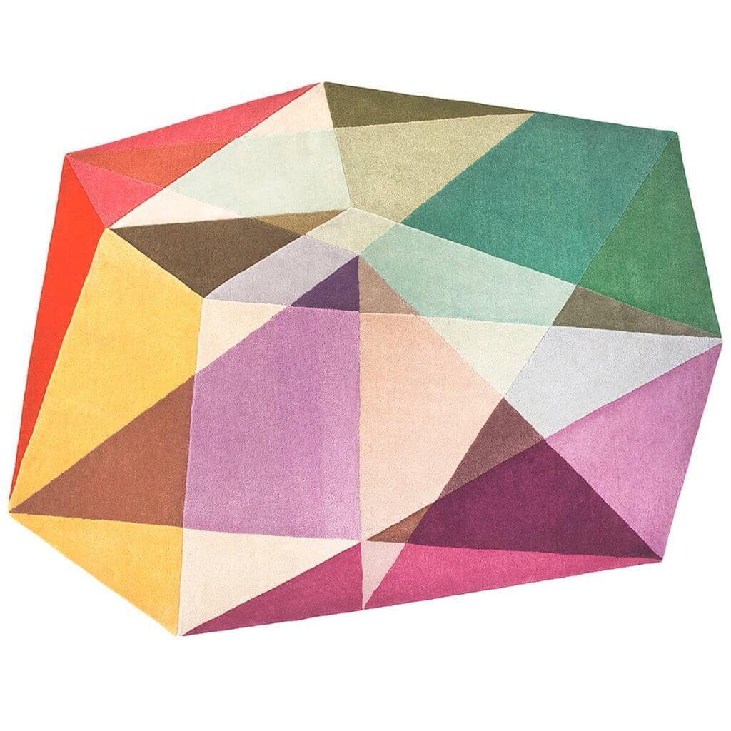 Contemporary Abstract Rug - Prism Pastels