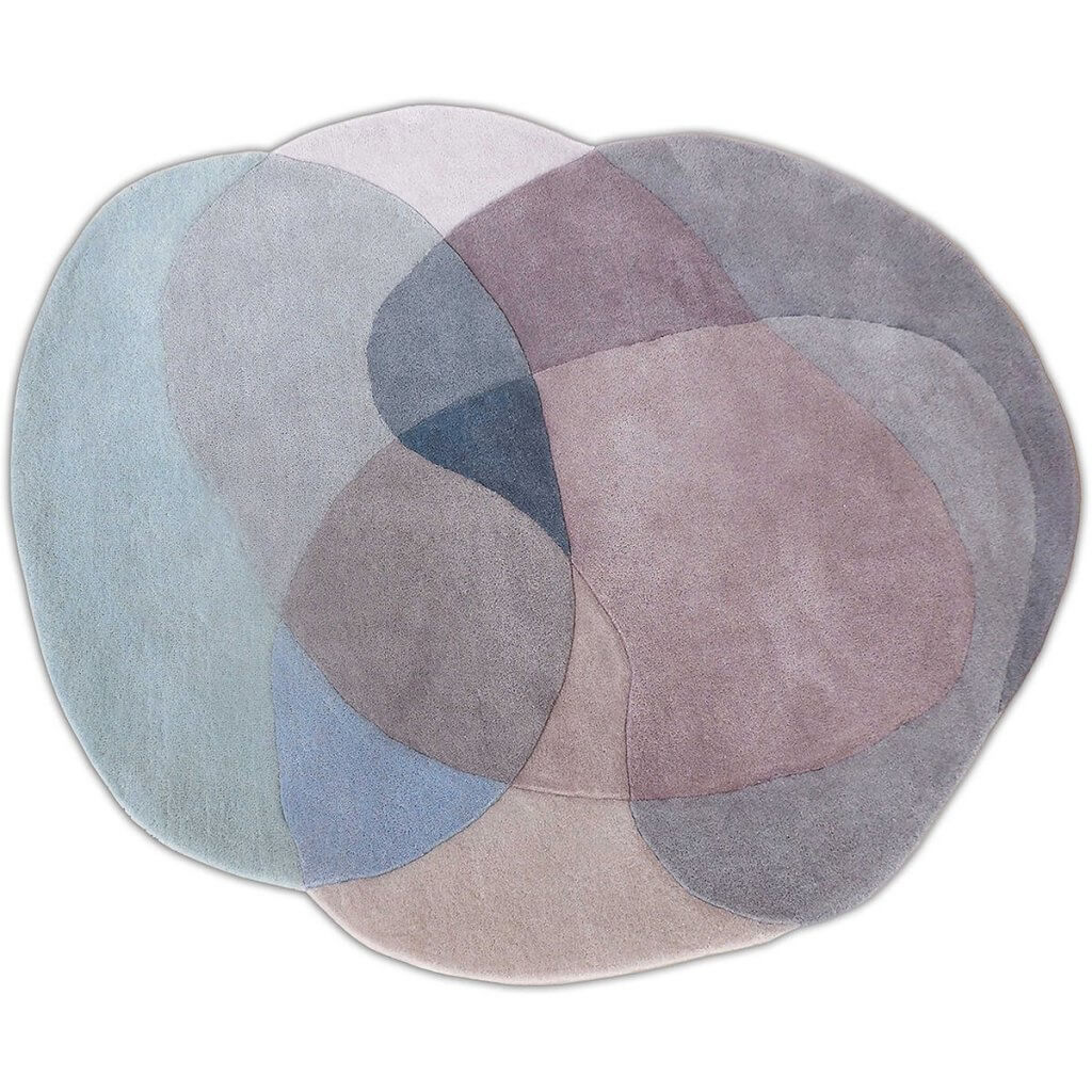 Modern Grey Area Rug - Jellybean