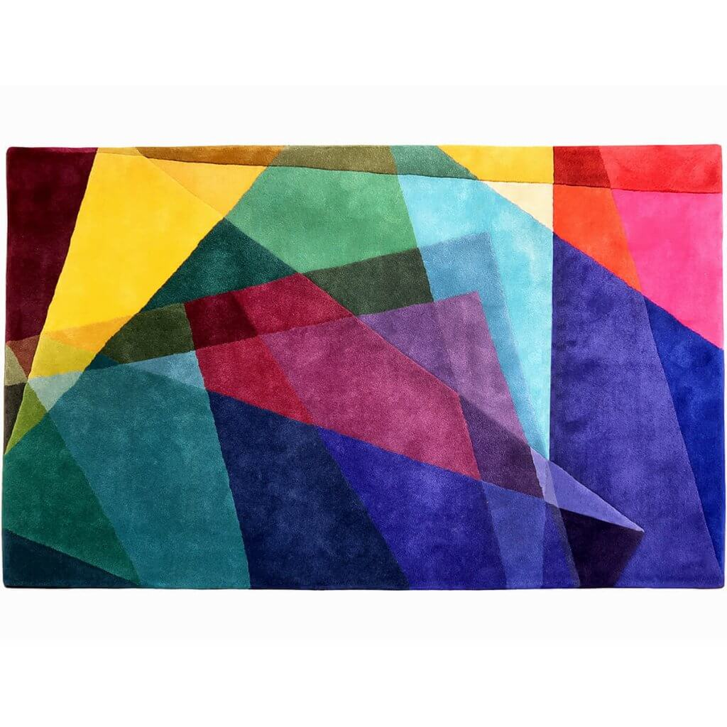 Modern Colourful Geometric Rug - Kaleidoscope