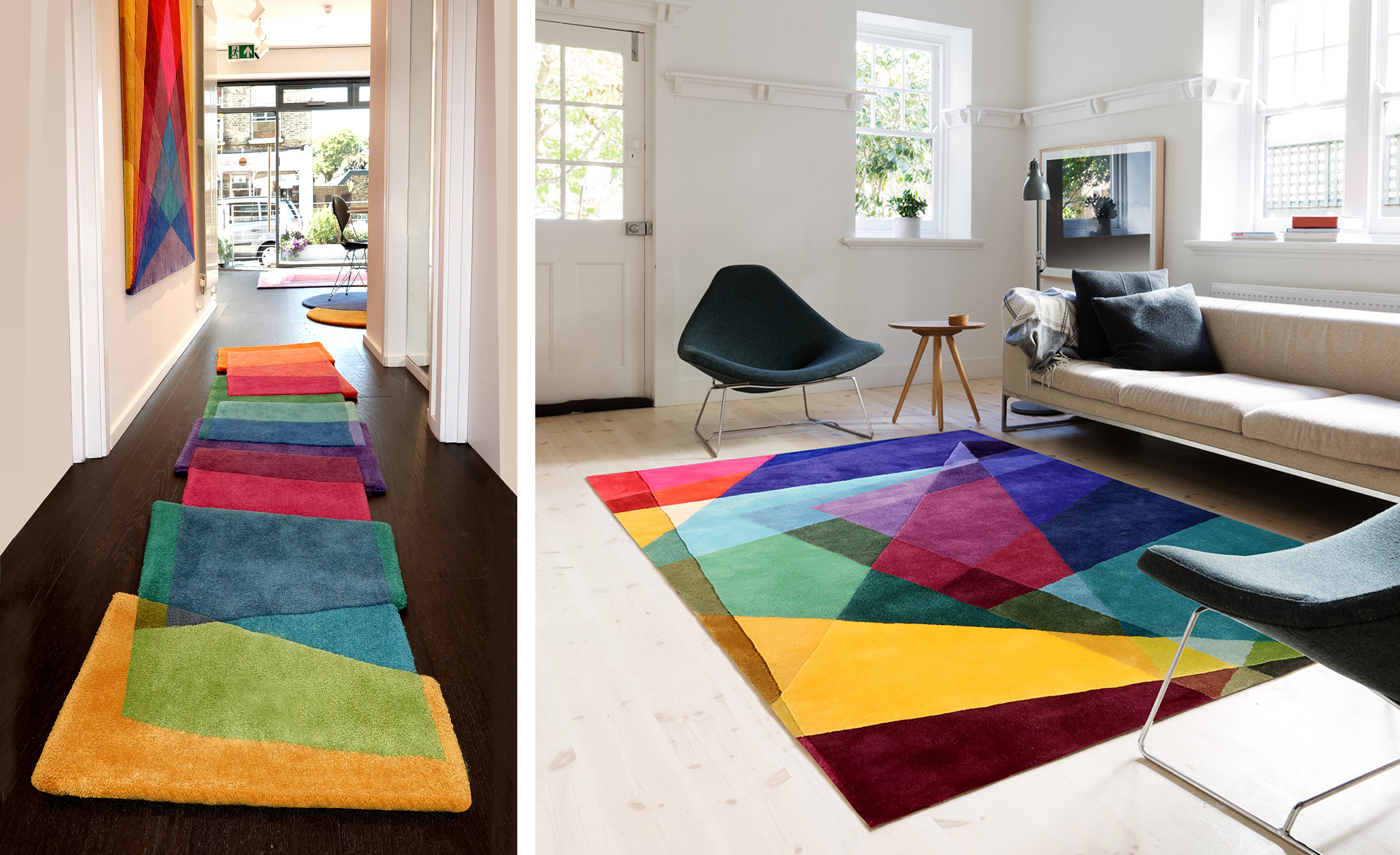 Two new vibrant contemporary rug designs launched by Sonya Winner at London Design Festival 2019