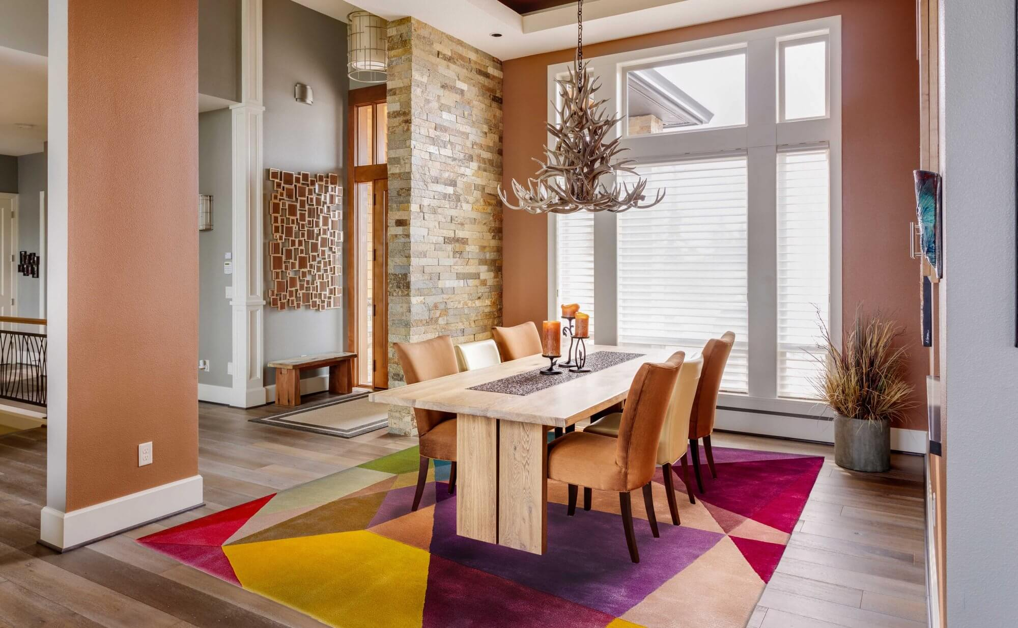 Dining Room Rugs - Prism Vibrant Rectangle Rug