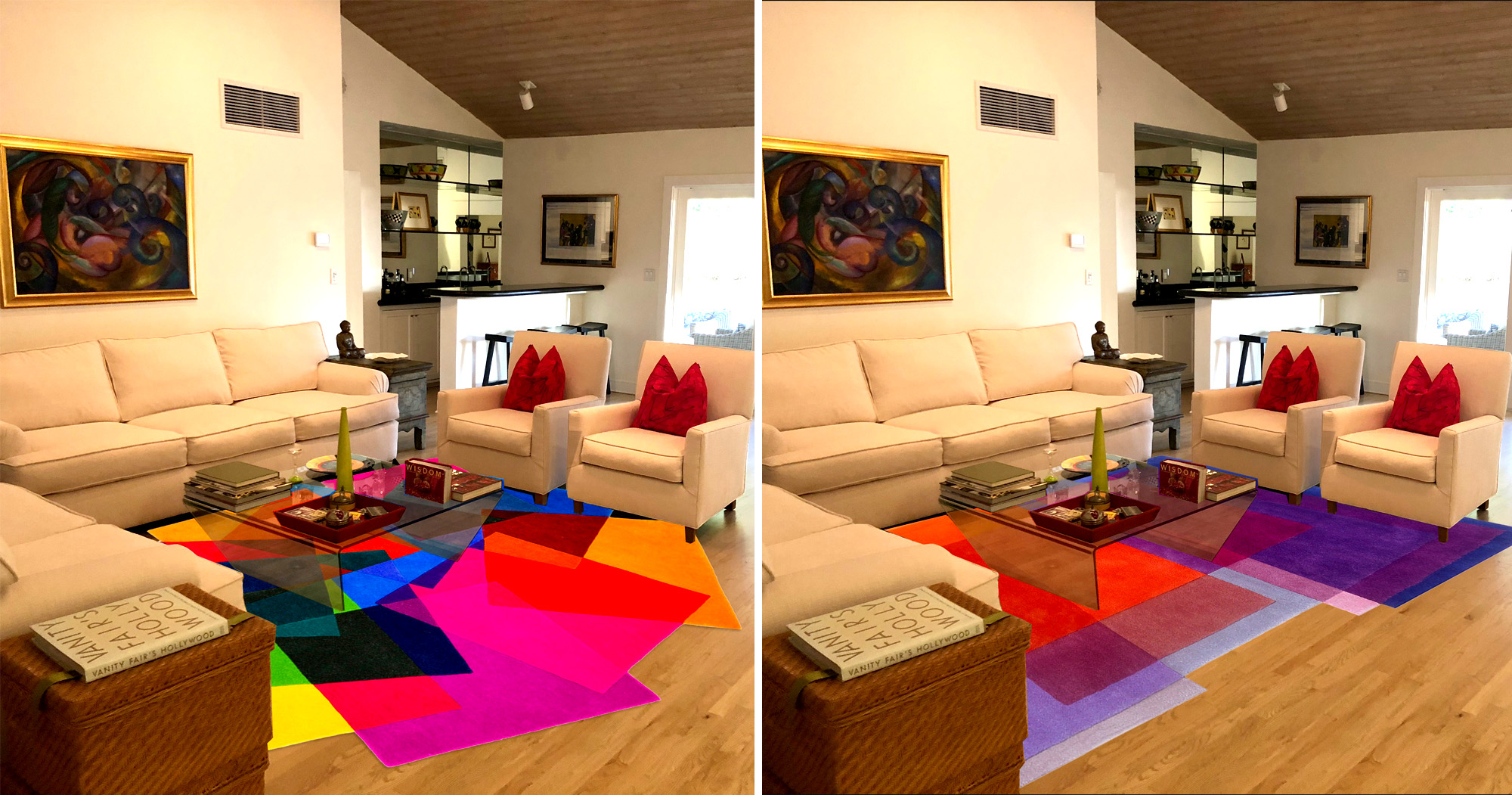 Designer rugs can be a fun collaboration with the designer