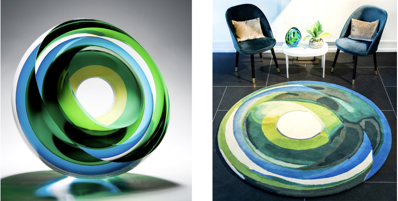 Art Inspired Rugs - Glass Art by Tim Rawlinson