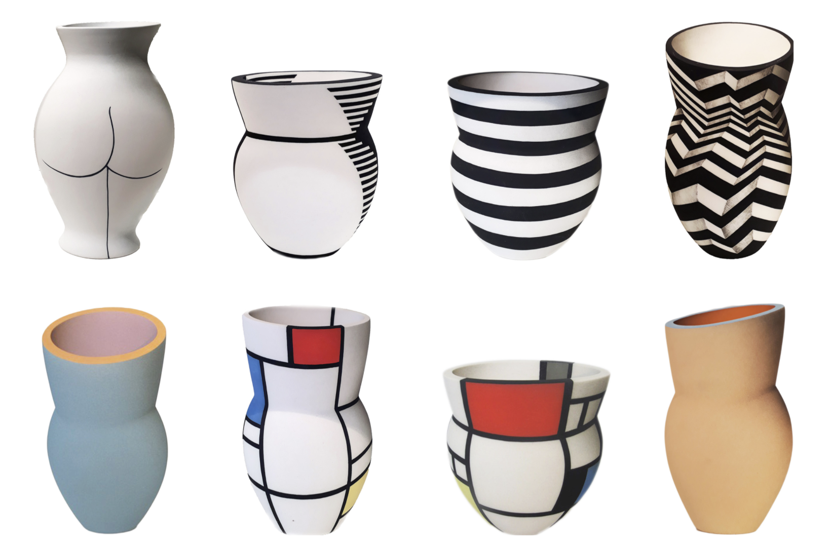 Illusional vases by Alice Rose