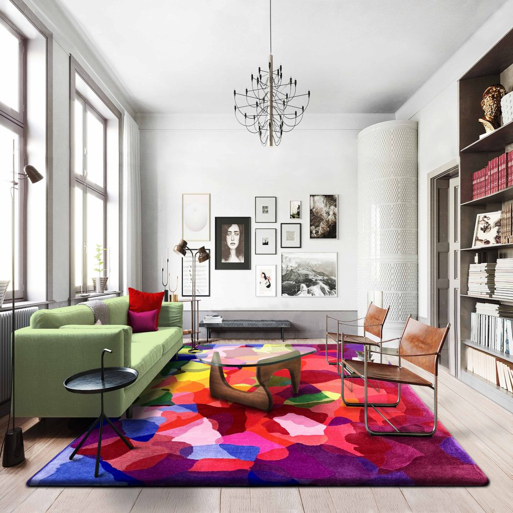 Large Colourful Area Rugs - Rosie