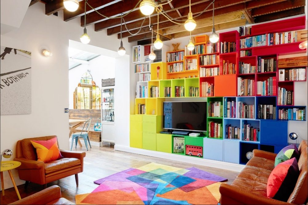 Colourful Eclectic Interior - After Matisse Rug